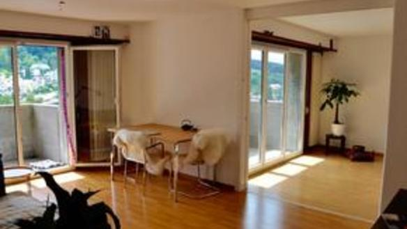 bright furnished room in cozy apartment, Zürich city